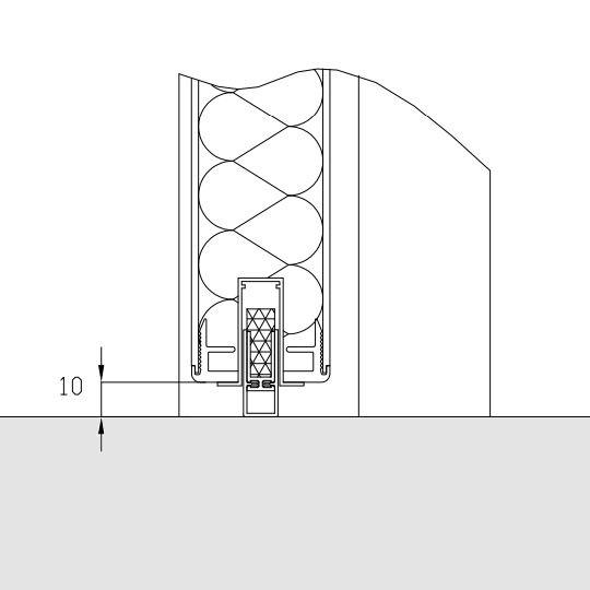 Automatisk bundstykke til vådrumsdøre