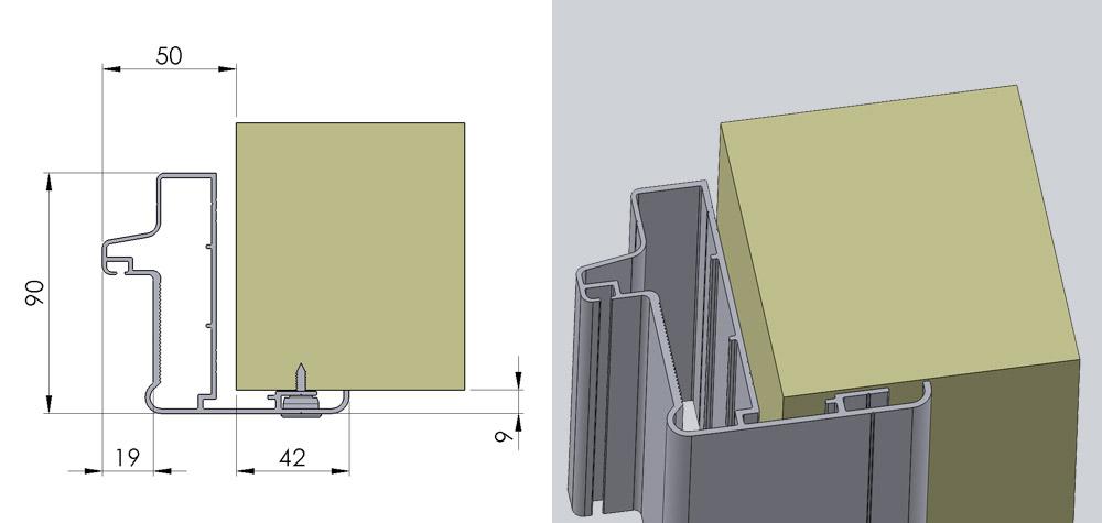 Vådrumsdør panelmontage