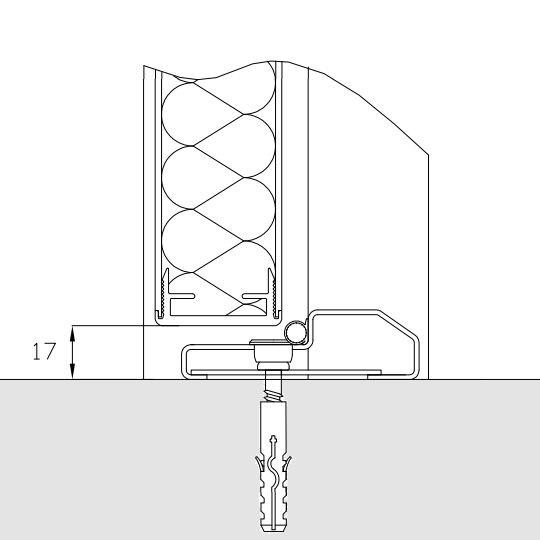 Rustfri bundstykke til glasfiberdøre