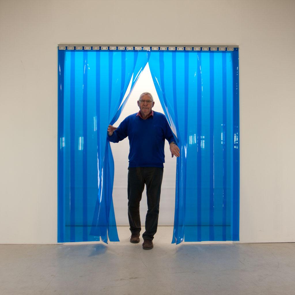 plastforhæng i blå PVC