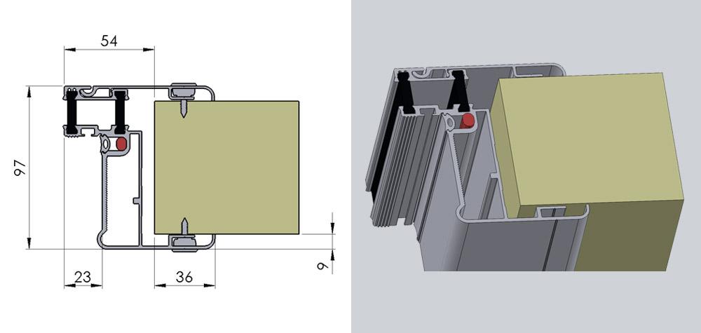 FD - Fryserumsdør til panelrum