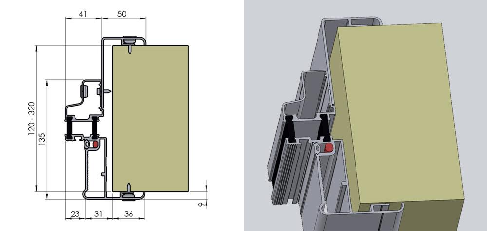 FD - Fryserumsdør med justerbar karm