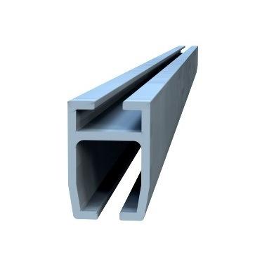 Skydebar skinne til PVC skiver