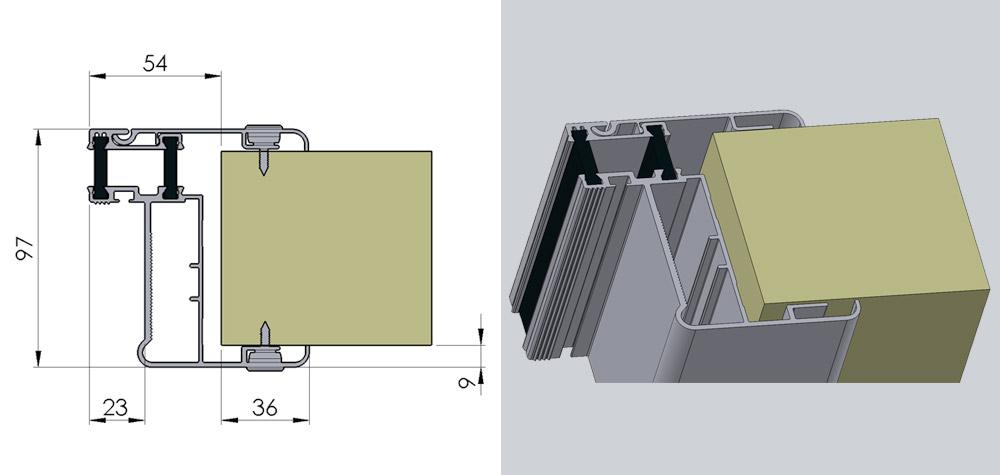 KD - Kølerumsdør til kølerumspanel