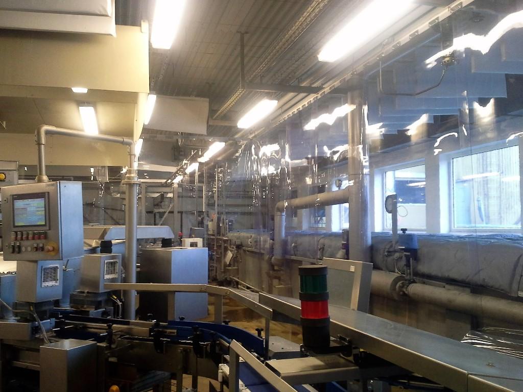 PVC gardin til produktion
