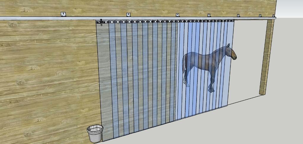 truckgardin til hest - PVC-strips og portgardiner