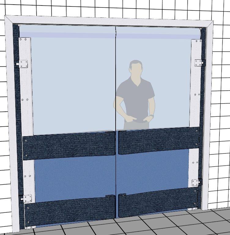 Butikssvingdør REMA 1000 - Polycarbonatsvingdøre
