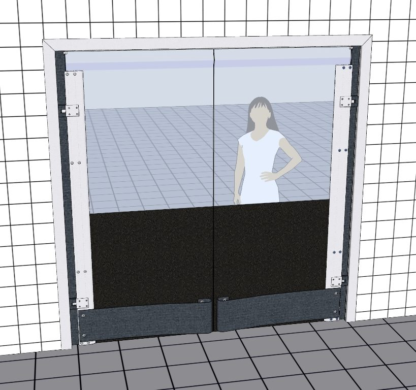 Svingdøre til palletrafik - Polycarbonatsvingdøre