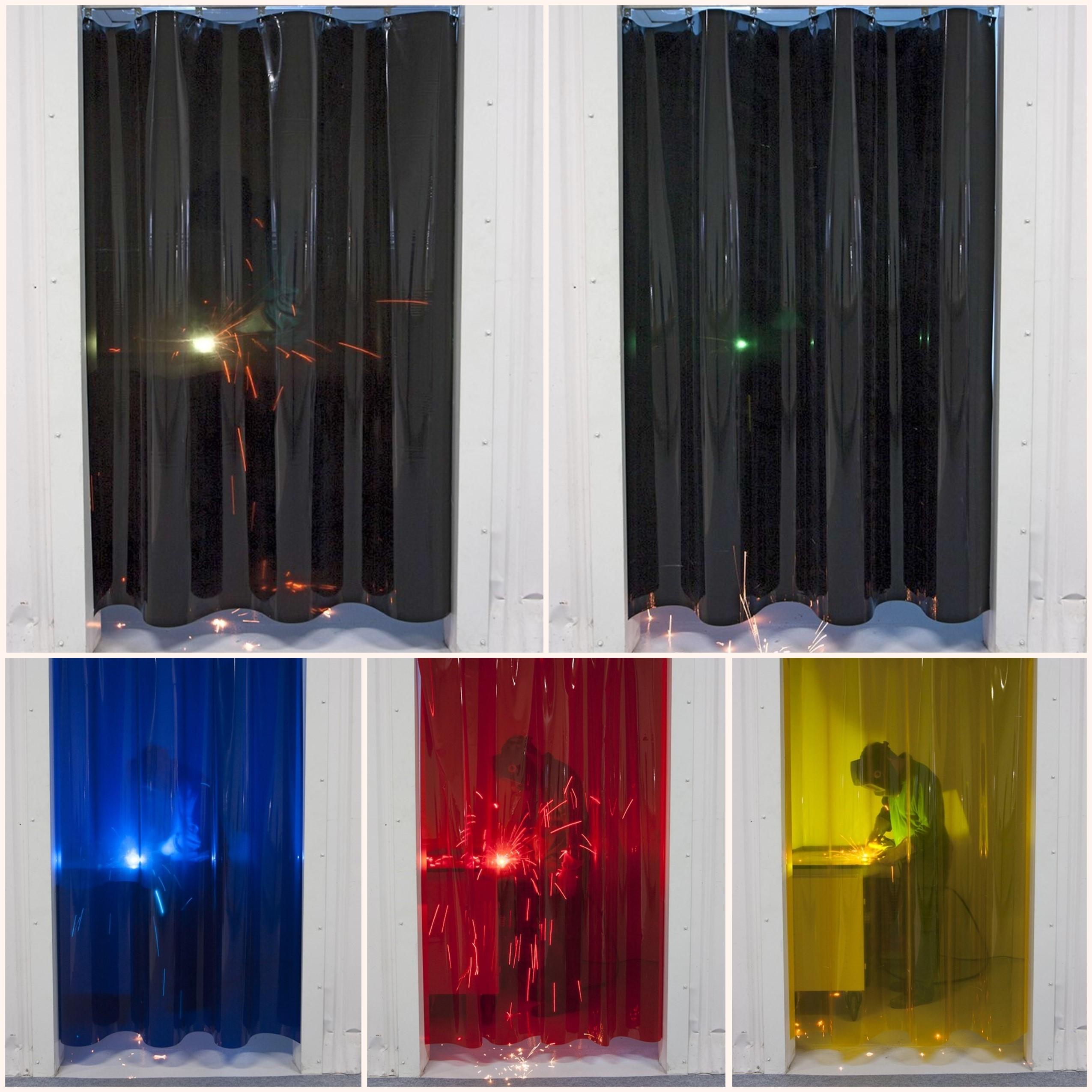 Farvet Svejsegardin i PVC