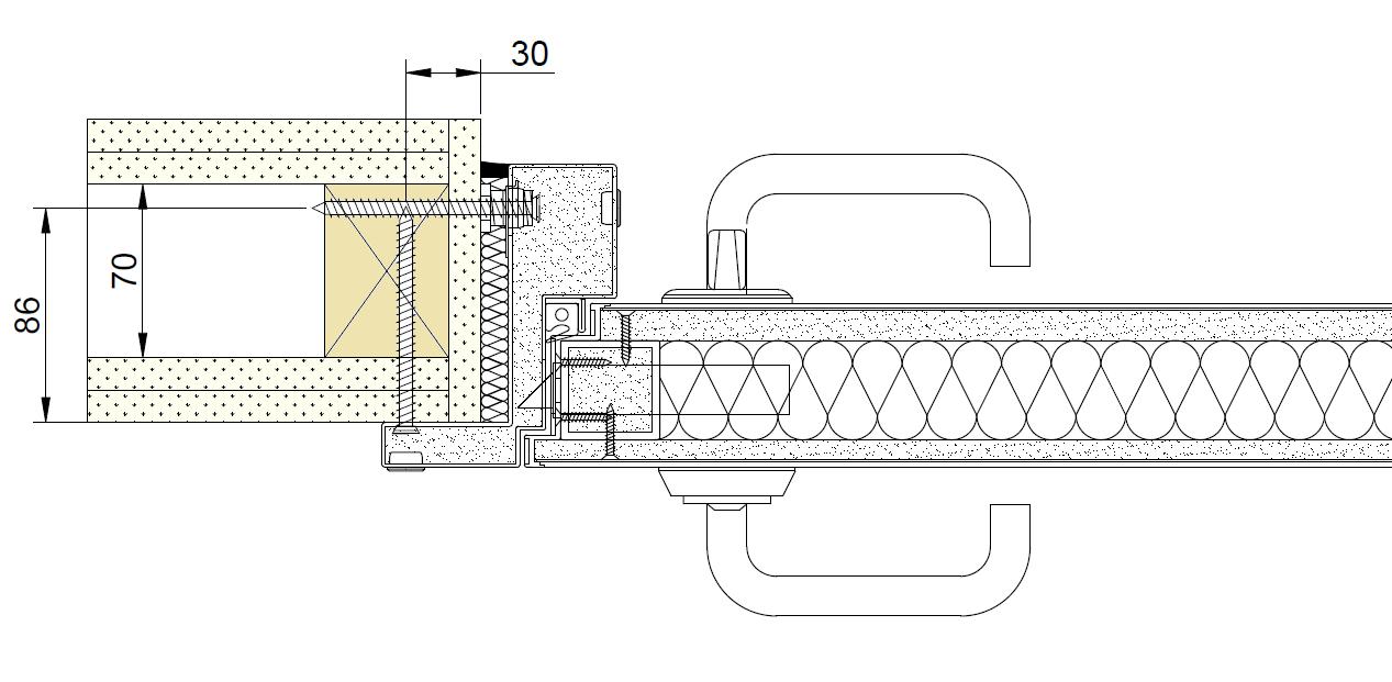 Vådrumsbranddør EI60