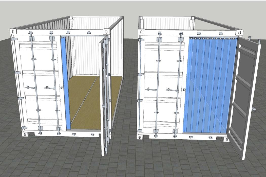 Skydebar containergardin - lameller