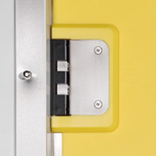 15 mm PE svingdøre med rustfri u-profil karm